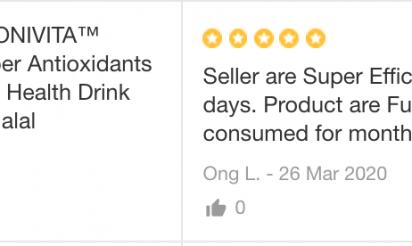 MONIVITA™ customer review by Ong L